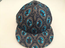 New Era Cap Hat Alice In Wonderland 2 All Over 59Fifty Fitted Logo Movie 7 1/4
