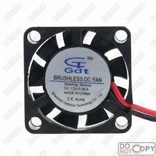 2pcs Gdt DC 12V 25mm x 25mm x 7mm Small Micro Brushless Cooling Cooler Fan Fans