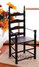 "Black Shaker Style Chair Furniture for 18"" American Girl Doll Amazing Selection!"