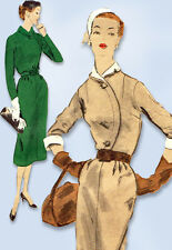 1950s Vintage Vogue Sewing Pattern 7736 Misses Slender Street Dress Size 12 30B