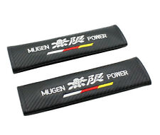 Carbon Fibre Fiber Effect seat belt pads for MUGEN HONDA. Civic Accord Type R