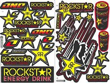 2SH. ROCKSTAR ENERGY ONE IND DECAL STICKER DIE-CUT AUTO MOTOR SPORTS CAR BIKE