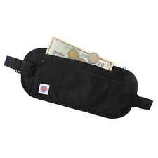 BLUE PEAK Black Ultralight Travel Security Bag / Money Belt with RFID Blocking