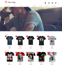 T Shirt Turnkey Ready Made Drop Ship Business Website FREE LIFETIME WEB HOSTING