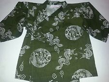 Vera Wang Green Kimono DRAGON shirt 18 months 100% cotton