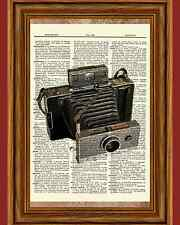 Vintage Polaroid Camera Retro Wall Decor Dictionary Art Picture Book Antique