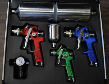 HVLP HIGH VOLUME LOW PRESSURE SPRAY GUN 4 PCS KIT WITH ALUMINUM CASE TITAN 19221