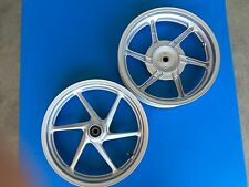 pair wheel rims honda sh 300 abs from year 2011 to 2014 grey new and original
