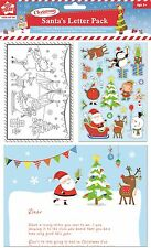 Letter To Santa & Reply Pack Christmas Thank You & Envelopes Sticker Sheet XSNT