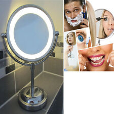 Illuminated Magnifying Chrome Lighted Makeup Mirror LED Cosmetic Vanity Standing