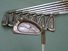 PING ISI BECU BLACK DOT IRON SET 3-W MATCHING NECK # OUTSTANDING ZZ65 STEEL