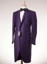 NWT $2995 OZWALD BOATENG Purple Jacquard Frock Coat-Style Tuxedo Slim 44 R Suit