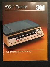 """Vintage 70's 3M """"051"""" Copier Copy Machine Operating Instructions Owner's Manual"""