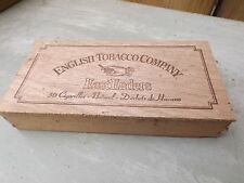 Vintage cigar box - English Tobacco Company - light wood eastenders wooden
