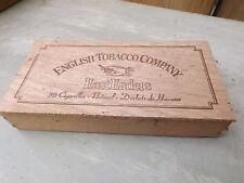 Vintage cigar box - English Tobacco Company - light wood eastenders wooden