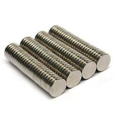 Set Of 10 Pieces of 8mm x 1.5mm Round Rare Earth Neodymium Strong Magnet N52