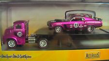 M2 MACHINES HAULERS R20B 70 FORD MUSTANG & 56 FORD COE PINK NEW MINT