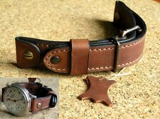 18mm GENUINE LEATHER WATCH STRAP WW2 BAND LACO AIR FORCE AVIATOR PILOT MILITARY