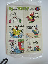 BJ and the Chef Self Adhesive Stickers Mini Comics #7 of series Puzzle? 1988