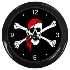 PIRATE SKULL & BONES COOL WALL CLOCK **SUPERB ITEM**