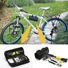 Multi-function Tool Repair Kit Patch Set with Tyre Pump Bag Cycling Bike Bicycle