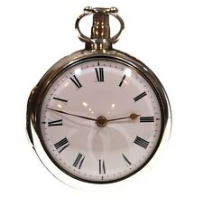 Antique Large 1807 Pair Cased Silver Fusee Verge Pocket Watch Serviced