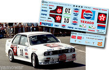 Decal 1:43 Jose Maria Ponce - BMW M3 - Rally El Corte Ingles 1987