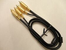 3ft. Mono Audio Video Dubbing Coaxial Cables Dual GOLD RCA Male to Dual RCA Male
