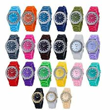 Wholesale 12 Assorted Geneva Platinum Womens Watch Colorful  Wristwatch Fashion