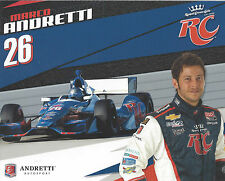 """2012 INDY 500 MARCO ANDRETTI USA RC COLA INDYCAR 8 """"X10"""" HERO CARD !"""