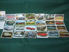 1970's German trading Card Game prestige  cars,spec sheet  cards complete set