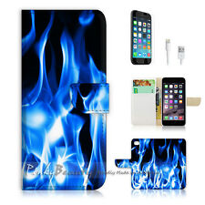 iPhone 6 / 6S (4.7') Flip Wallet Case Cover! P0203 Flame