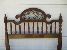French Country QUEEN Size Headboard Victorian Rococco Italian Provincial TAN