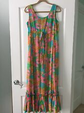 Vintage The Lilly Lilly Pulitzer INC. long floral semi sheer silk? dress