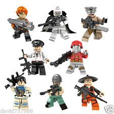 Compatible Lego 8+2pcs Soldier Hummer Minifigures Building Blocks Toy Boys Gift