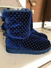 UGG Kids Bailey Bow Navy Starlight Boots girls size 3