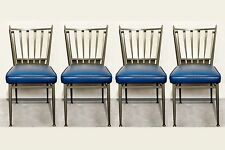 Set of Four Chromcraft 1950s Slat Back Dinette Chairs