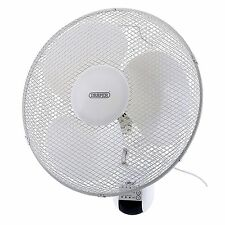"Draper 16"" Remote Controlled 3 Speed Oscillating Wall Mounted Fan - 75098"