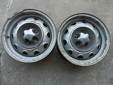 MOPAR SMALL BOLT PATTERN  RALLY WHEELS 14 X 5 1/2  PAIR OF TWO