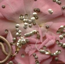 FRENCH couture ANTIQUE METAL SEQUINS Gold micro 3mm DOLL size tiny Paris lot