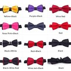 Refinement Mens Plain Bowtie Polyester Pre Woman Colorful Tied Wedding Bow Tie