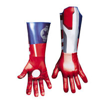 Iron Man 3 Iron Patriot Classic Adult Deluxe Gloves GLOW IN THE DARK! NWT 57698