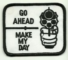 DIRTY HARRY Go Ahead Make My Day Gun Pistol  PATCH