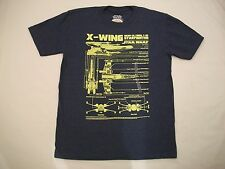 Star War X-Wing INCOMCO. Model T-65 STARFIGHTER Adult T Shirt - Size Medium