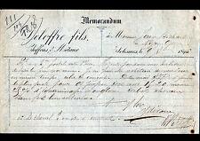 """SOLESMES (72) CHIFFONS & METAUX """"DELOFFRE Fils"""" en 1895"""