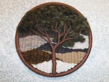 Mid Century Modern Wool Fiber Wall Art Tree 13""