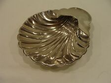 International Silver Co Footed Shell Dish Silver Plated