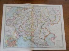 Antique c1904 colour map of CENTRAL AND SOUTH RUSSIA HARMSWORTH ATLAS