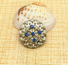 Alloy Rhinestone Chunk Snap Button for Noosa Necklace Bracelet Earring BCD76