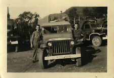 PHOTO ANCIENNE - VINTAGE SNAPSHOT - MILITAIRE VÉHICULE CAMION - MILITARY TRUCK